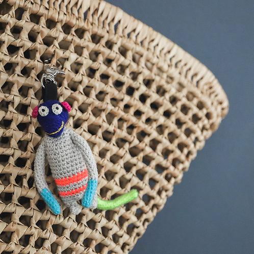 Crochet Monkey Keyring