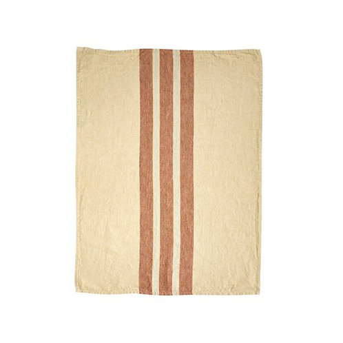 Chilmark Tea-towel 60x80cm Straw Stripe luxury interior belgian linen shop online karybu