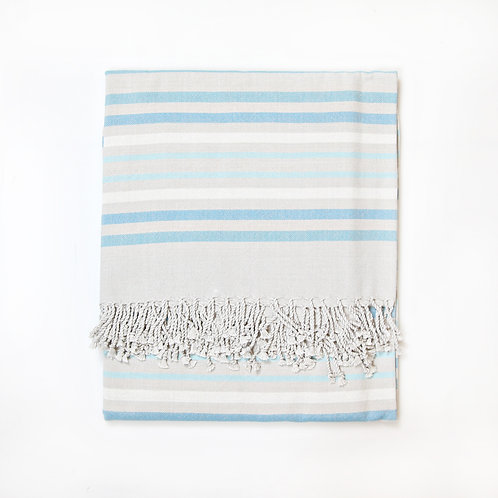 Handwoven Pareo Light Blue