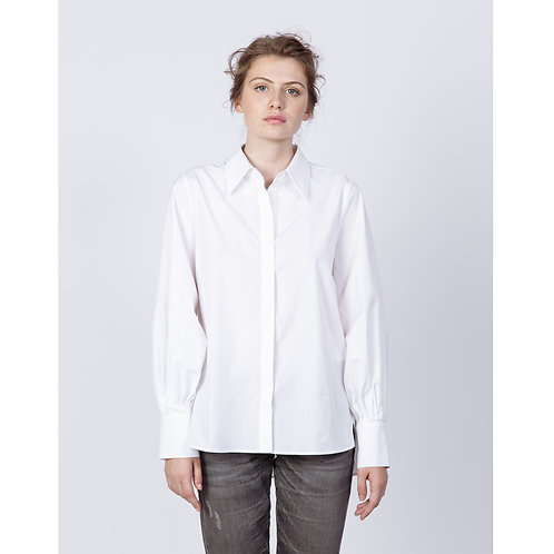 Hana San Shirt Tajimi White luxury high end fashion karybu shop online