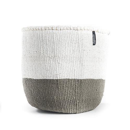 Mifuko 50/50 Basket Kiondo Medium Light Grey Luxury interior accessories natural Karybu concept store shop online