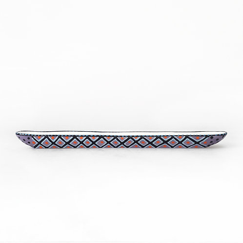 karybu shop online ceramics African design kitchenware kitchen accessories Olive Boat Orange-Purple
