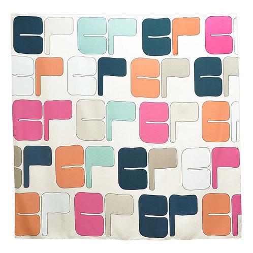 100% Silk Foulard Carre Big Monogram Ecru 140 x 140 cm Be Parisian Luxury fashion Karybu shop online