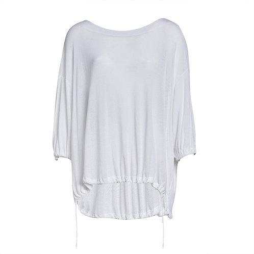 Transit Boat Neck Oversized T-shirt - White women luxury fashion spring summer 20 shop online Karybu