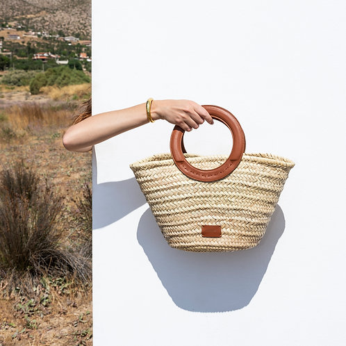 Zeus & Dione - Scorpio Small Straw Bag Tabaco Luxury fashion Karybu concept store shop online