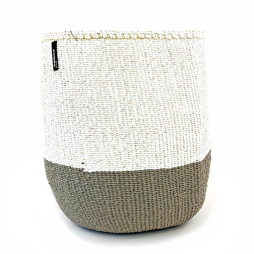 Mifuko 50/50 Basket Kiondo Large Light Grey Luxury interior accessories natural Karybu concept store shop online