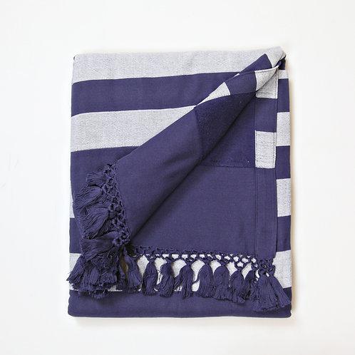 Handwoven Pool Towel Blue