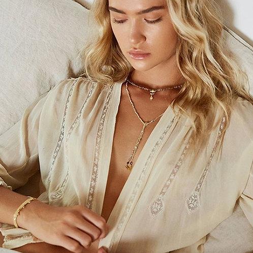 Marie Laure Chamorel Luxury Gri-Gri Bracelet - Gold-plated Silver / Grey karybu jewelry fashion shop online