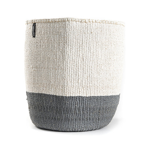 Mifuko 50/50 Basket Kiondo Large Grey Luxury interior accessories natural Karybu concept store shop online