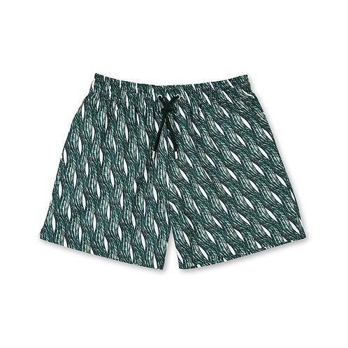 Vagues Green Swim Shorts Apnée luxury swimwear men karybu shop online