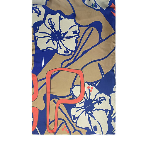 100% Silk Foulard - Elle & Lui 4 200 x 65 cm Be Parisian Luxury fashion Karybu shop online