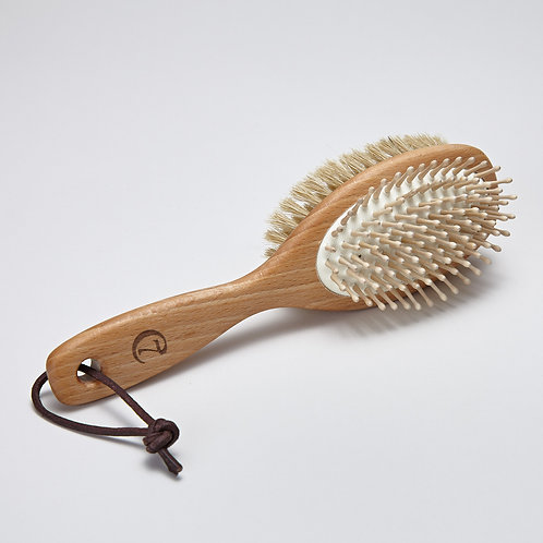 Dog Fur Brush with Leather Loop Cloud7 Dog Accessories Pet luxury shop online Karybu
