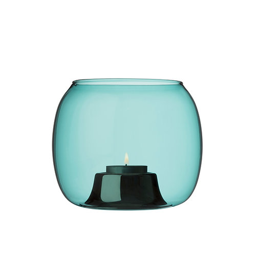 Iittala Kaasa tealight candleholder 141 x 115 mm sea blue Karybu Buy Online luxury interiors