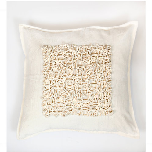 Indigo Collection Ivory Cushion Cover 50x50 cm Luxury Interior furniture Tinos karybu shop online