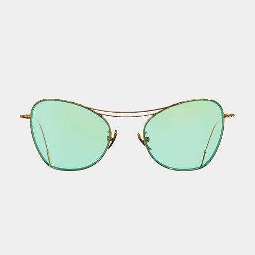 Cutler & Gross Sunglasses 1307GPL-06 Gold & Mint Green Precious Metal collection luxury eyewear shop online Karybu