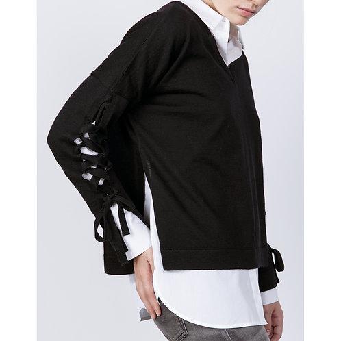 Hana San Wool Sweater Narita Black luxury high end fashion karybu shop online