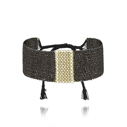 Marie Laure Chamorel Luxury Mesh Bracelet - Ruthenium / Silver Gold-plated karybu jewelry fashion shop online