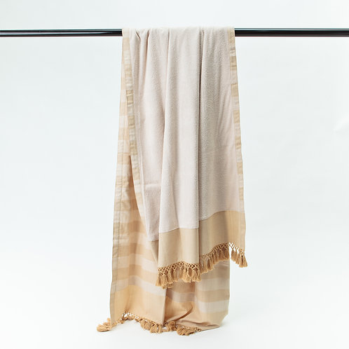 Handwoven Pool Towel Beige