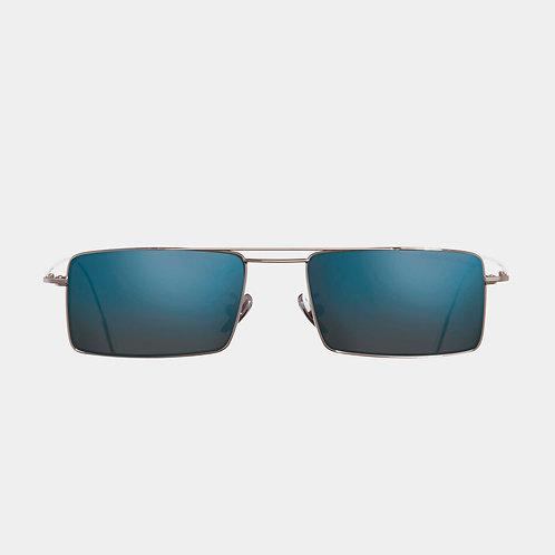 Precious Metal collection Cutler & Gross Sunglasses 1308PPL-02 Palladium & Cobalt Mirror luxury eyewear shop online Karybu