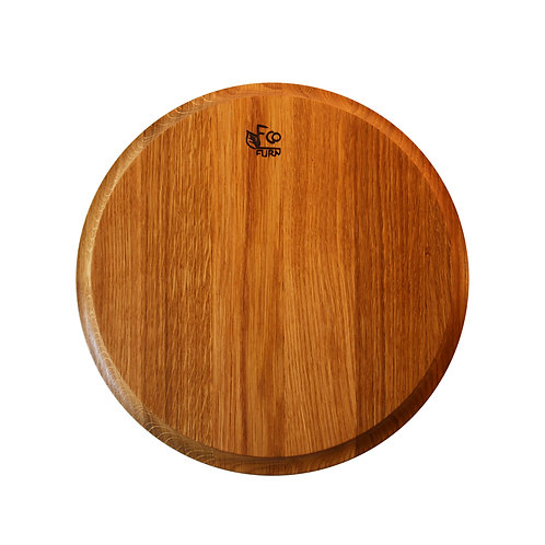 Ecofurn Pizza & Cheese plate, Oak, 31x2,5 cm Luxury interior home accessories