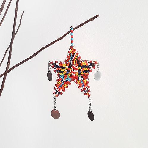 X-mas Beaded Ornament Samburu Christmas Decoration Karybu Shop Online