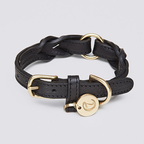 Dog Collar Hyde Park Black (S / M / L)
