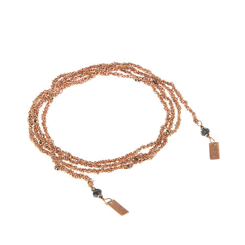 Marie Laure Chamorel Luxury Gri-Gri Bracelet Pink Gold / Nude karybu jewelry fashion shop online