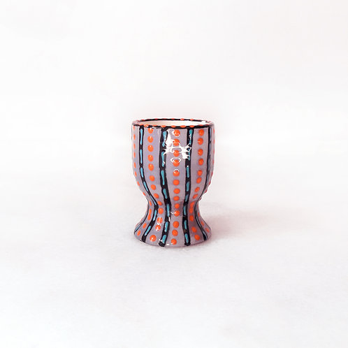 hand-painted karybu shop online ceramics African design kitchenware kitchen accessories Egg Cup Orange-Purple