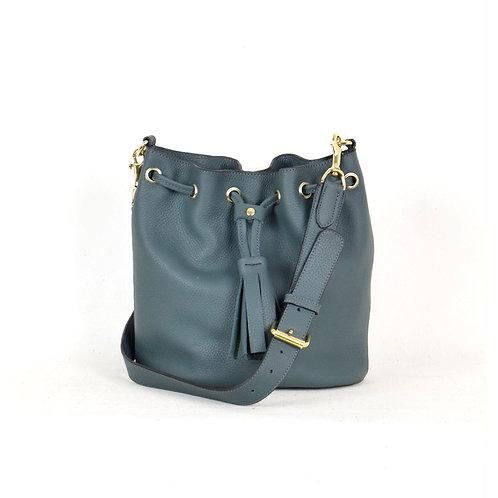 bush princess Mini Bucket Leather Bag Teal karybu shop online
