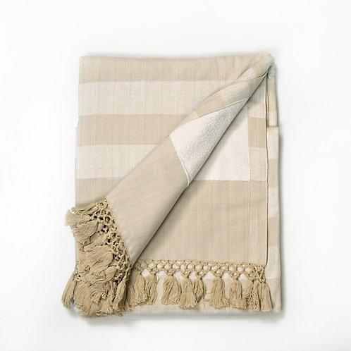 Handwoven Hand Towel Beige