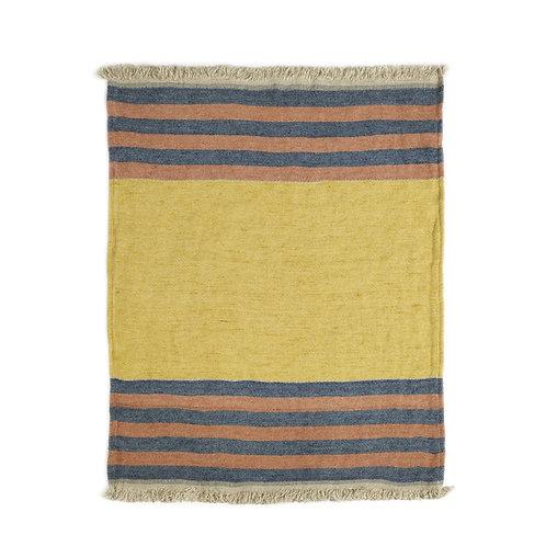 The Libeco Belgian Towel Fouta Red Earth Stripe 110x180cm luxury interior belgian linen shop online karybu