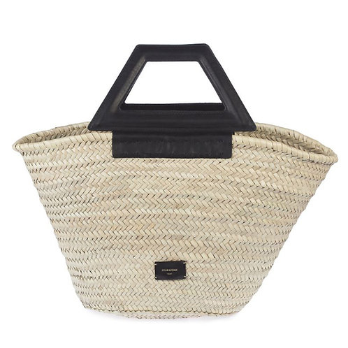 Zeus & Dione - Scorpio Medium Straw Bag Black Luxury fashion Karybu concept store shop online