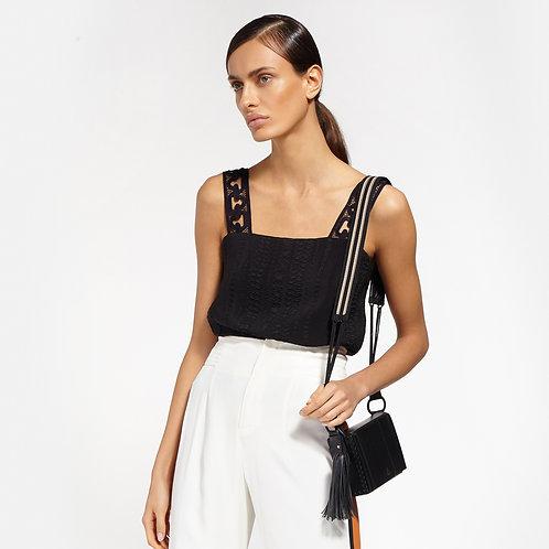 Zeus + Dione Attiki Medium Leather Bag Woven Strap Black luxury fashion spring summer 20 shop online Karybu