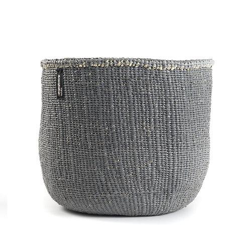 Mifuko One Colour Basket Kiondo Medium Grey Luxury interior accessories natural Karybu concept store shop online