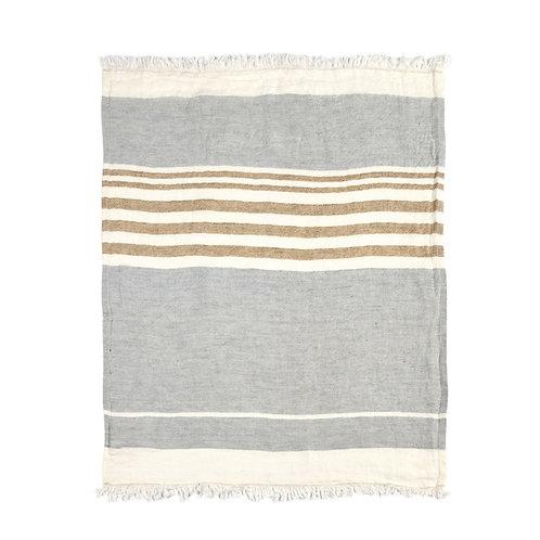 Libeco The Belgian Towel Fouta Ash Stripe 110x180cm luxury interior belgian linen shop online karybu