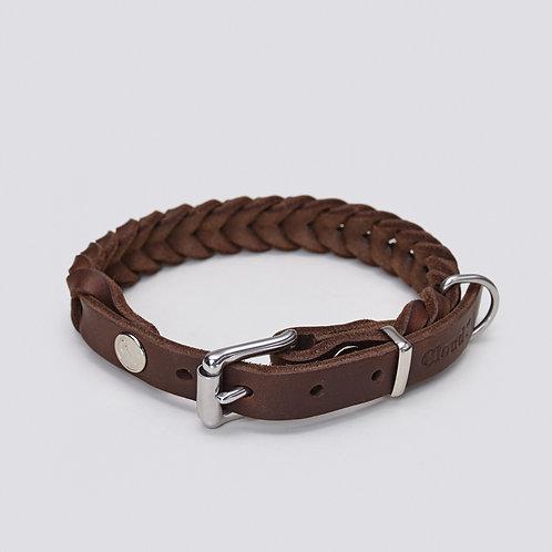 Dog Collar Central Park Saddle Brown (S / M / L)
