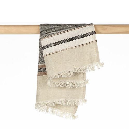 The Libeco Belgian Towel Guest Towel Beeswax Stripe 55x65cm luxury interior belgian linen shop online karybu