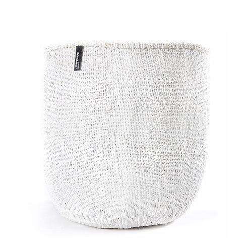 Mifuko One Colour Basket Kiondo Large White Luxury interior accessories natural Karybu concept store shop online