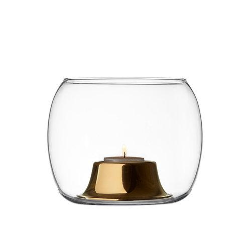 Iittala Kaasa Tealight Candleholder Clear rose gold Karybu Buy Online luxury interiors