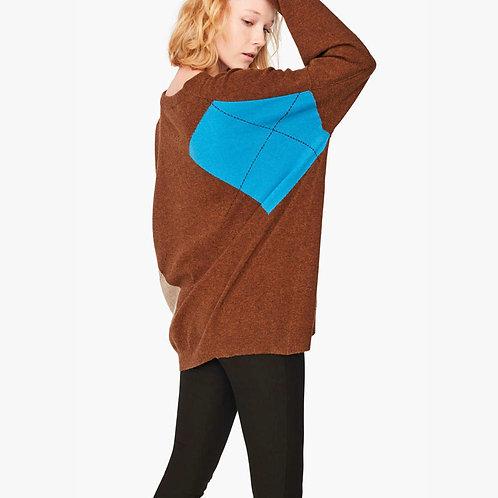 Reversible Wool Jumper Liviana Conti luxury high end Italian fashion karybu shop online