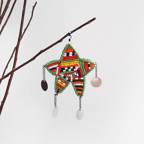 X-mas Beaded Ornament Samburu Christmas Decoration Karybu Shop Online