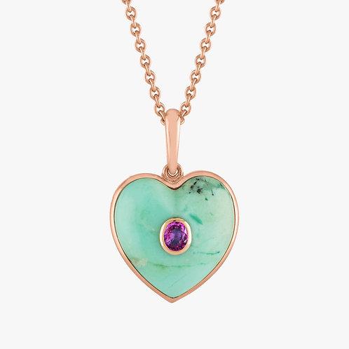 Blue Heart Pendant Gold 18k Nana Fink luxury jewellery jewelry shop online Karybu