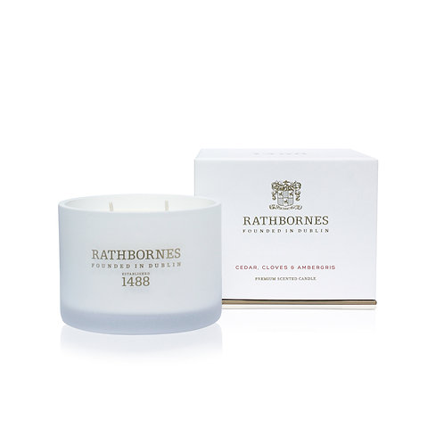 rathbornes 1488 Cedar Cloves Ambergris Scented Classic Candle karybu shop online