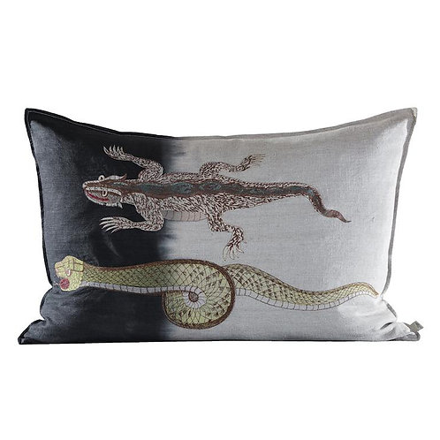 Snake Cushion, Embroidered & Dipped Evolution Product luxury interior furniture tinos karybu shop online