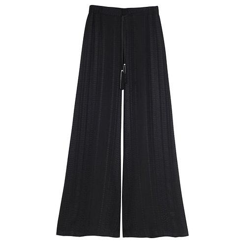 Zeus & Dione - Alcestes Signature Textured Silk Trousers Black luxury fashion spring summer resort collection 19 shop online