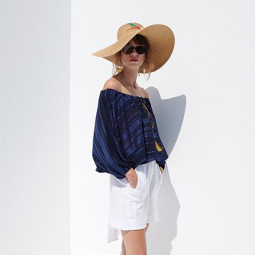 Zeus & Dione Minos Shorts White luxury fashion spring summer resort collection 19 shop online Karybu