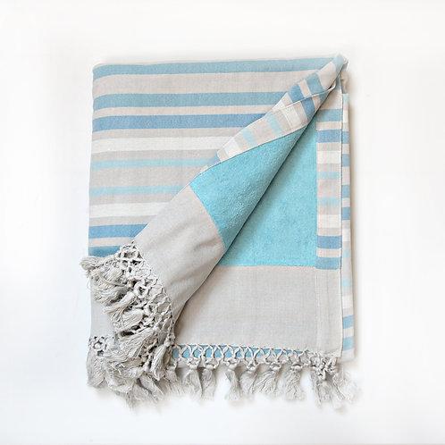 Handwoven Pool Towel Light Blue
