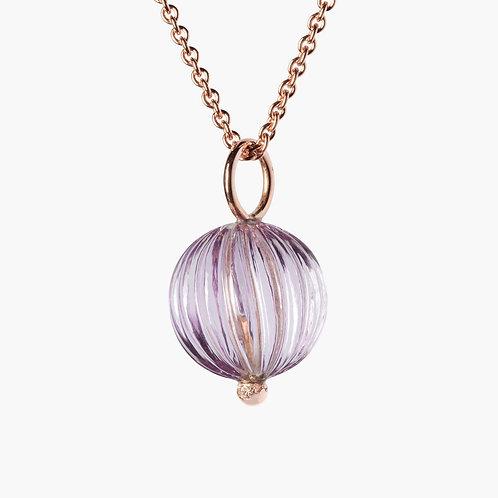 Sophistiquée Pendant No. 2 Amethyst 15mm Gold 18k Nana Fink luxury jewellery jewelry shop online Karybu