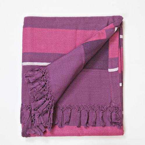 Handwoven Pool Towel Purple