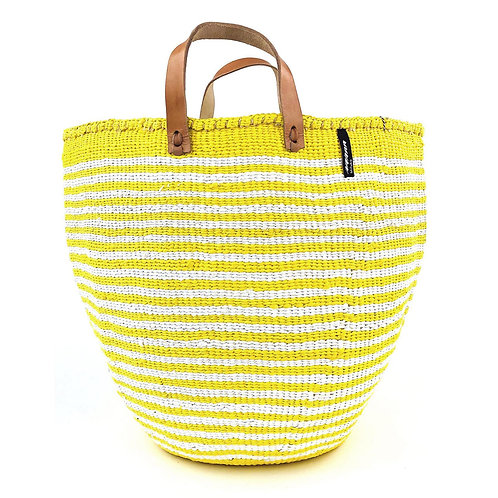 Mifuko Thin Stripes Tote Bag Large Yellow Luxury interior accessories natural Karybu concept store shop online